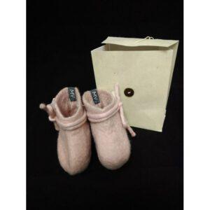 babyslofjes merinowol roze