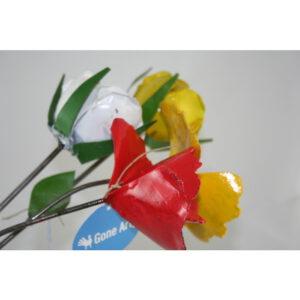 scrapmetal: bloem op stick