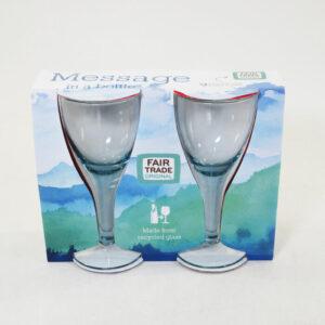 wijnglas recycled glas 17cm set van 2