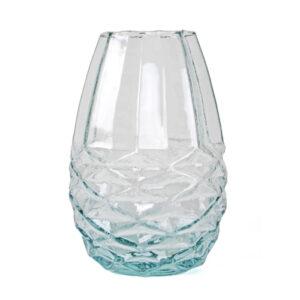 Vaas Diamant glas hoogte 24cm