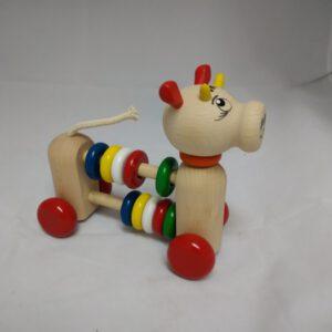 Rolfiguur koe met ringen